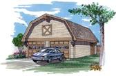 Barn Style Garage Plan # 55526