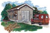 Small RV garage design
