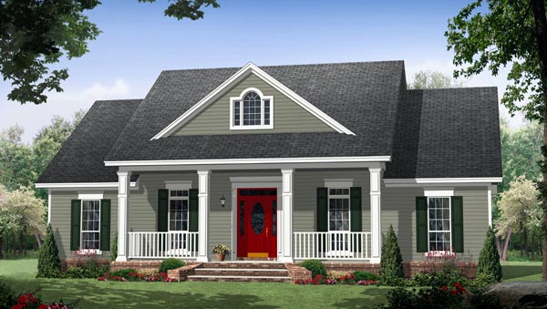 House Plan 59952 at FamilyHomePlans com Colonial Country Traditional House Plan 59952 Elevation