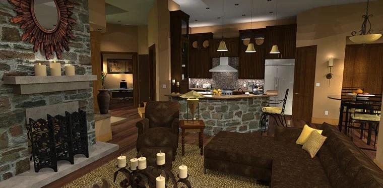 Cottage Craftsman Tuscan House Plan 65862