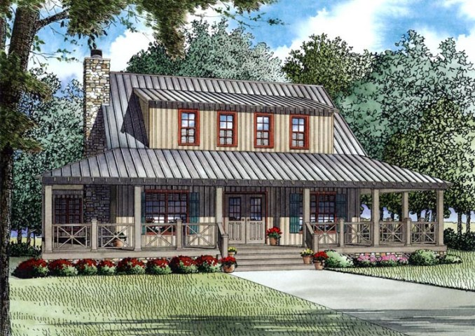 House Plan 82167 at FamilyHomePlans com Country Farmhouse House Plan 82167 Elevation