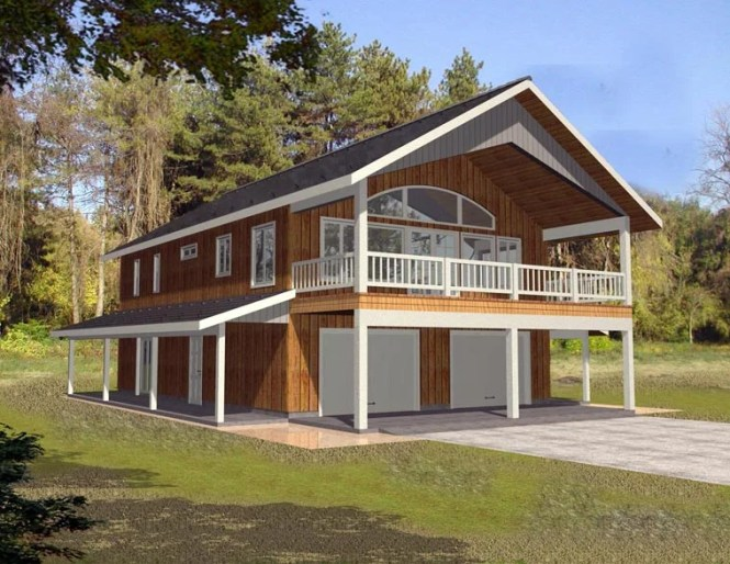Farmhouse Style 2 Car Garage Apartment Plan Number 85372 With Bed 3 Bath