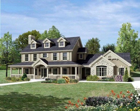 House Plan 95822 at FamilyHomePlans com Cape Cod Colonial Country Farmhouse House Plan 95822 Elevation