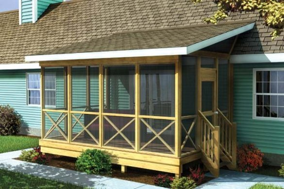 Project Plan 90012   Screened Porch w  Shed Roof Screened Porch w  Shed Roof   Project Plan 90012