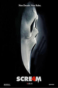 """Poster art for """"Scream 4."""""""