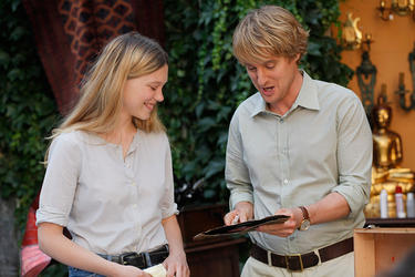 "Lea Seydoux as Gabrielle and Owen Wilson as Gil in ""Midnight in Paris."""