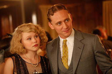 "Alison Pill as Zelda Fitzgerald and Tom Hiddleston as F. Scott Fitzgerald in ""Midnight in Paris."""