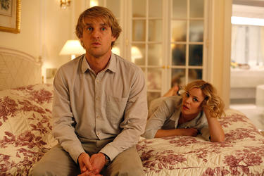 "Owen Wilson as Gil and Rachel McAdams as Inez in ""Midnight in Paris."""