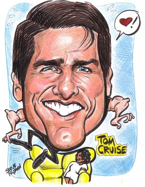 Tom Cruise Caricature - tom-cruise fan art