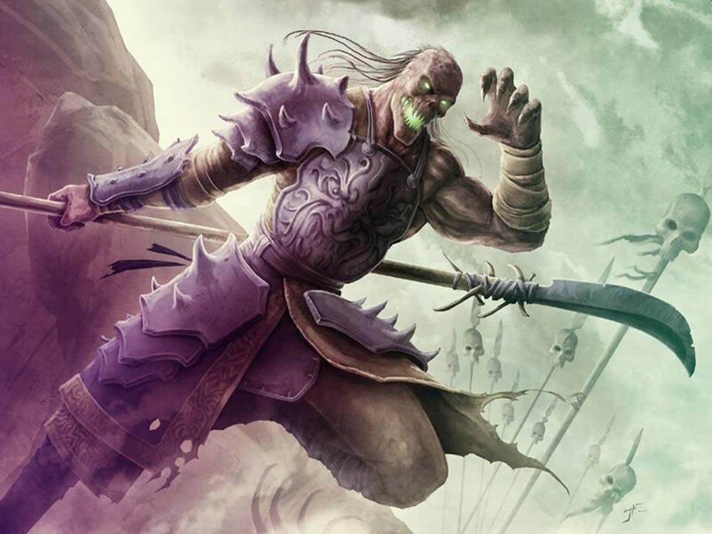 Undead Warrior - fantasy wallpaper
