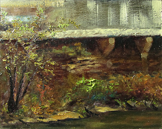 Under the Viaduct - Cuyahoga Falls Ohio - Oil