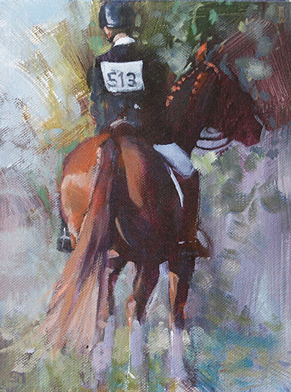 Time to Pause by Sally Martin Oil ~ 8inch x 6inch