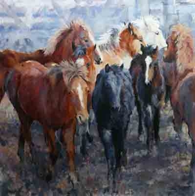 ' by Sally Martin Oil ~ 36inch x 36inch