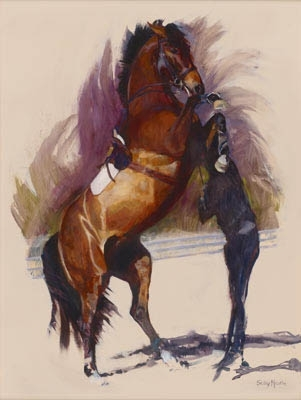 'Power in Hand I' by Sally Martin Oil ~ 38inch x 28inch