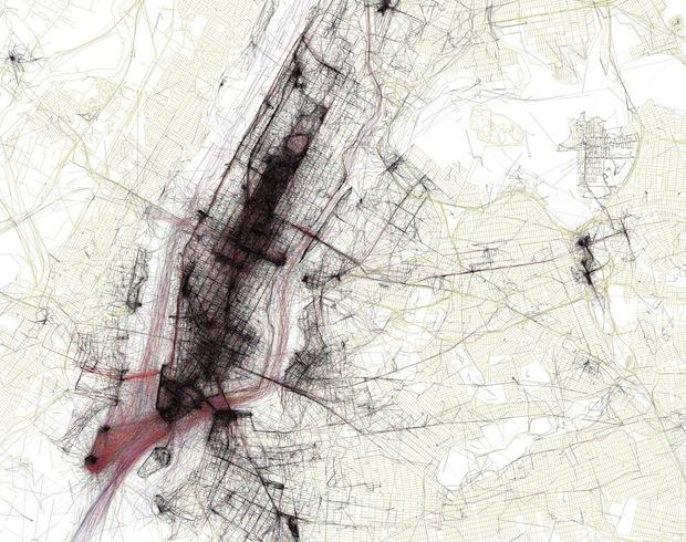 infographic ny city map
