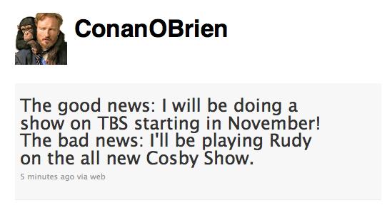 Conan Tweet