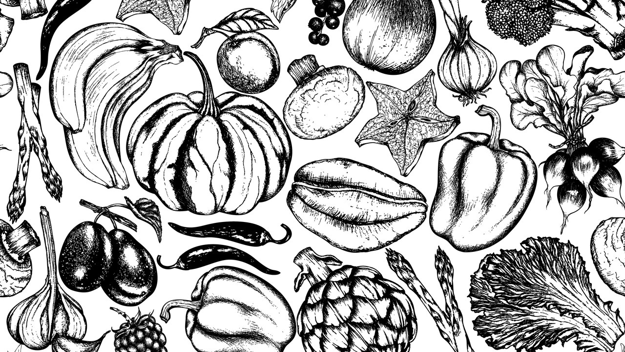 a cheat sheet for seeing what veggies