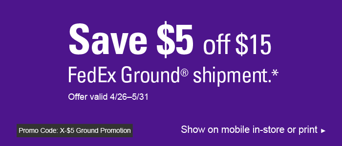 save $5 off $15 ground BAG image