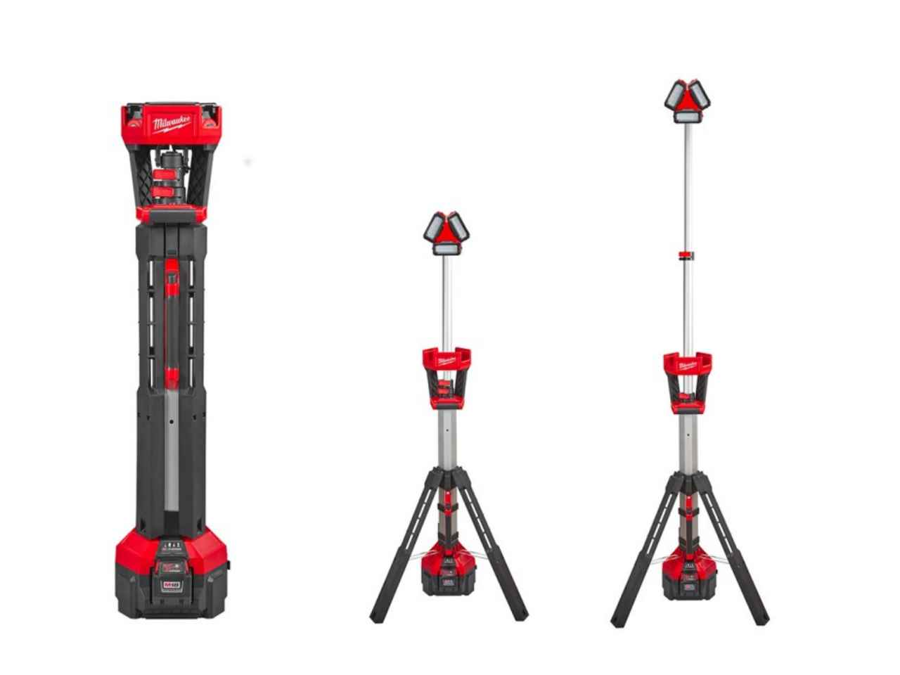 Milwaukee M18hsal 0 M18 Rocket Led Tower Light 110v Output
