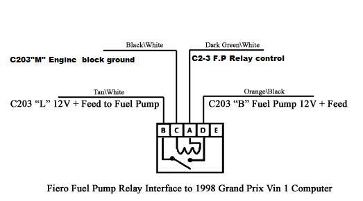 86 Fiero Gt 6 C Fuel Pump Wiring Diagram : 40 Wiring