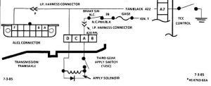 4T60 transmission TCC lockup wiring  Pennock's Fiero Forum
