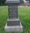 Inscription for Bulah 'Polly' D. Thompson on family marker