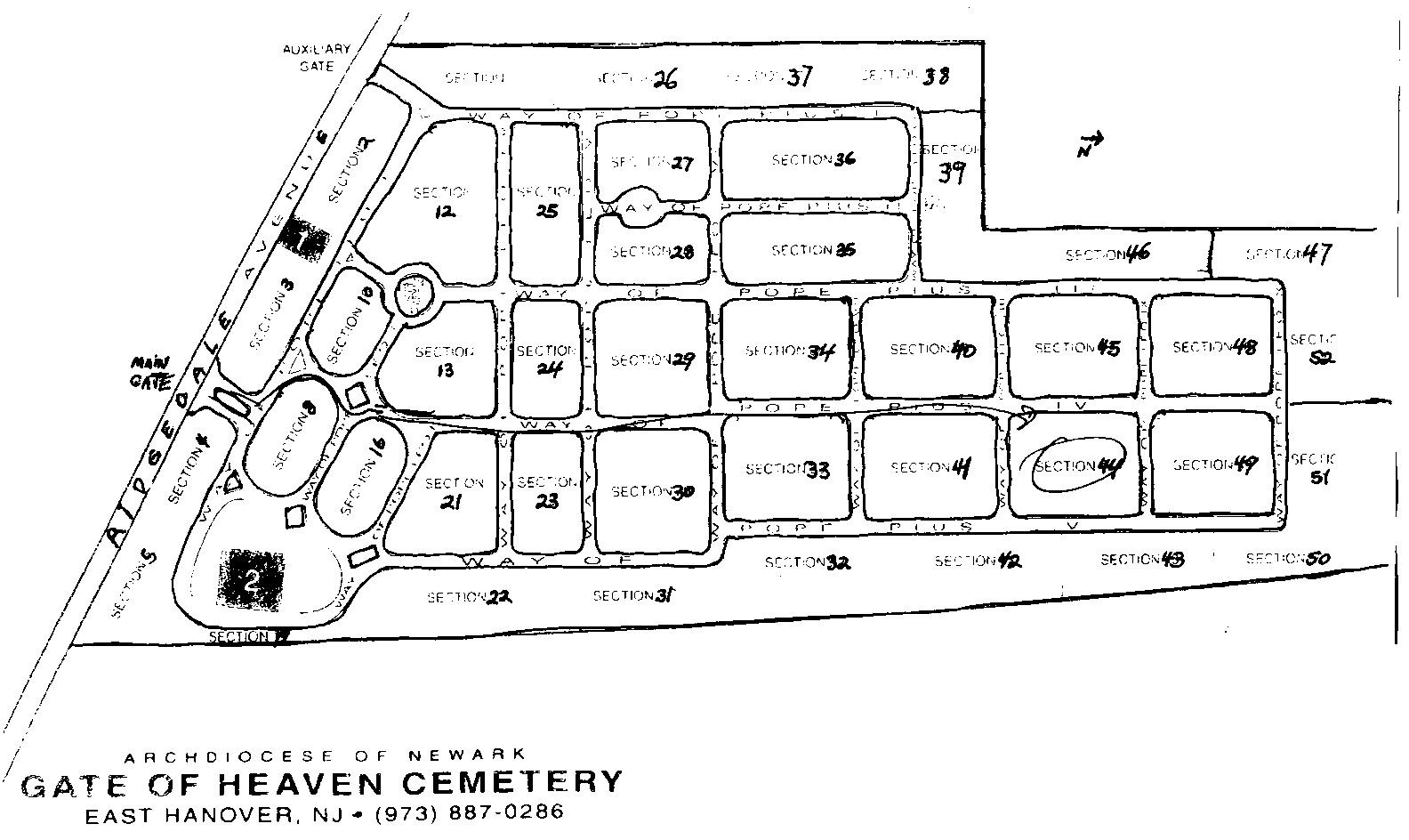 Find A Grave Gate Of Heaven Cemetery