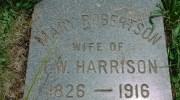 Headstone Inscription of Mary Platt Robertson Harrison