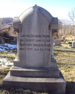 Headstone of Anson Dearing Parr