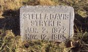 Headstone with Birth and Death dates of Stella Davis Stryker
