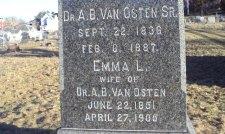 Grave marker of Mrs. Van Osten