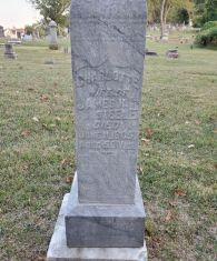 Headstone inscription of Charlotte Steele