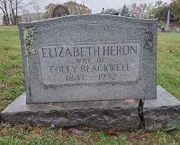 Grave marker of Elizabeth Heron Blackwell