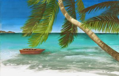 Island Breeze Painting by Jamin Huber