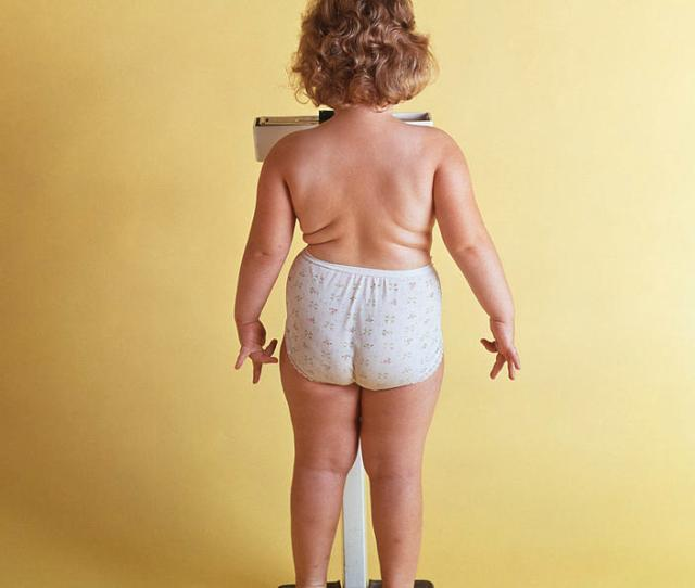 Vertical Photograph 1970s Overweight Chubby Little Girl By Vintage Images