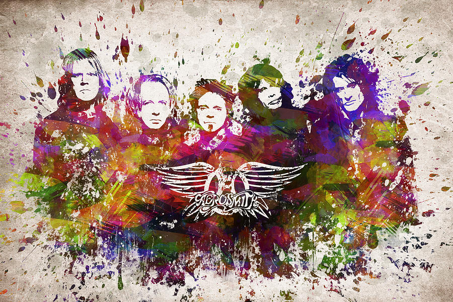 Aerosmith In Color Digital Art By Aged Pixel