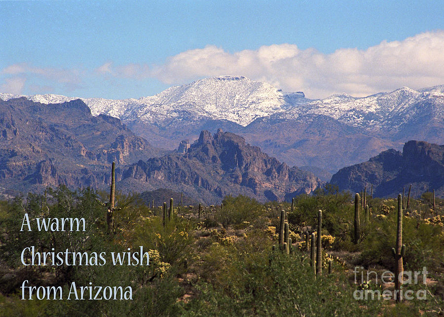 Arizona Christmas Card Superstitions With Snow