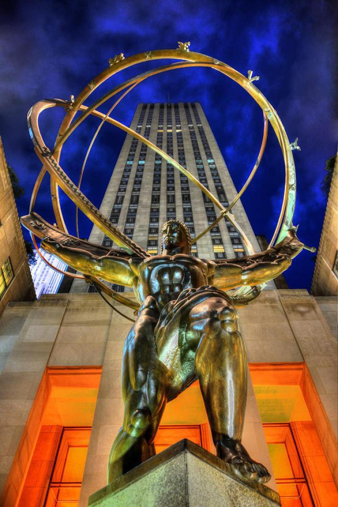Atlas Statue At Rockefeller Center Photograph by Randy Aveille