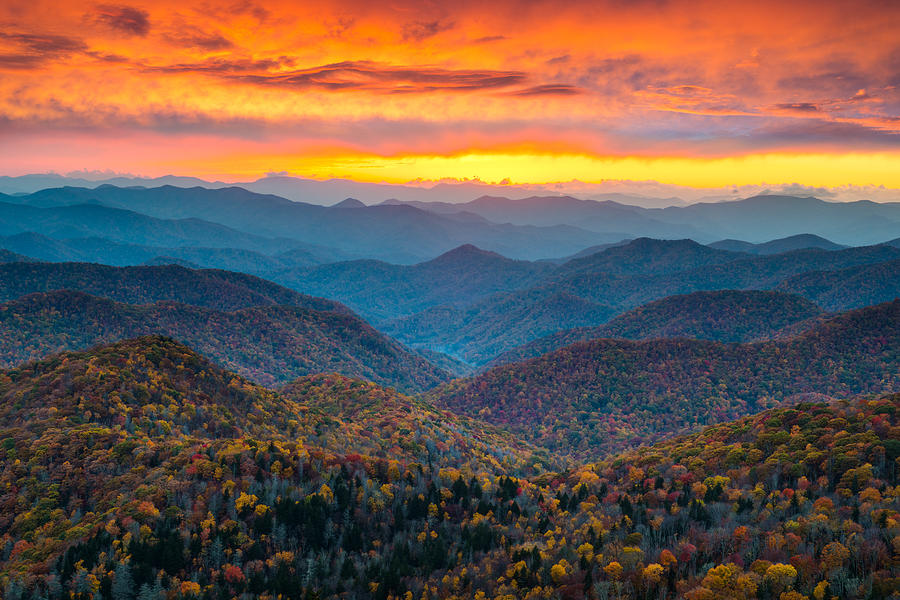 Image result for fall in the blue ridge mountains