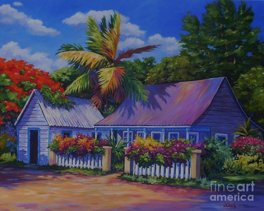 Caribbean Cottage Painting By John Clark