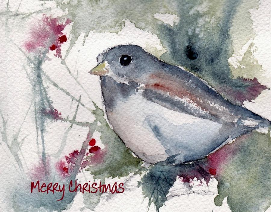 Christmas Birds 01 Painting By Anne Duke