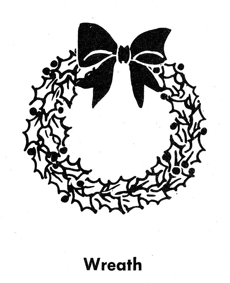 Christmas Wreath Drawing By Granger