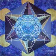 Dodecahedron In A Metatron's Cube Painting by Maya B