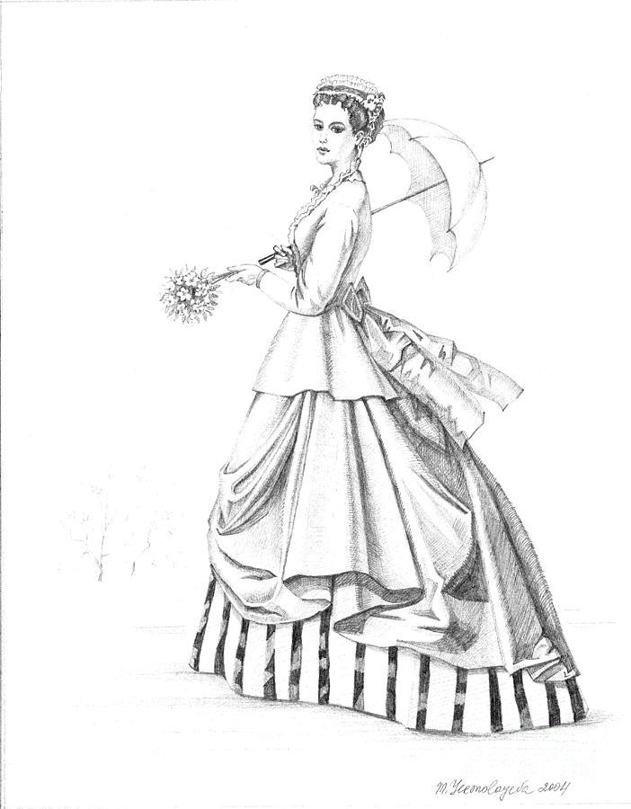Elegant Lady Painting By Margaryta Yermolayeva