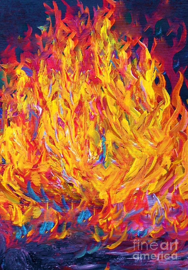 Image result for How to Paint Flames of Fire