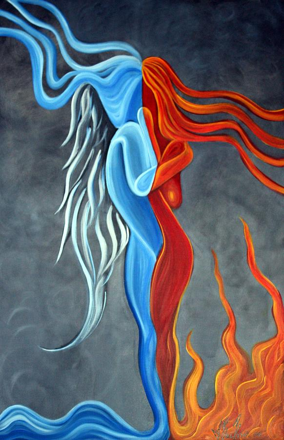 Image result for fire & ice painting