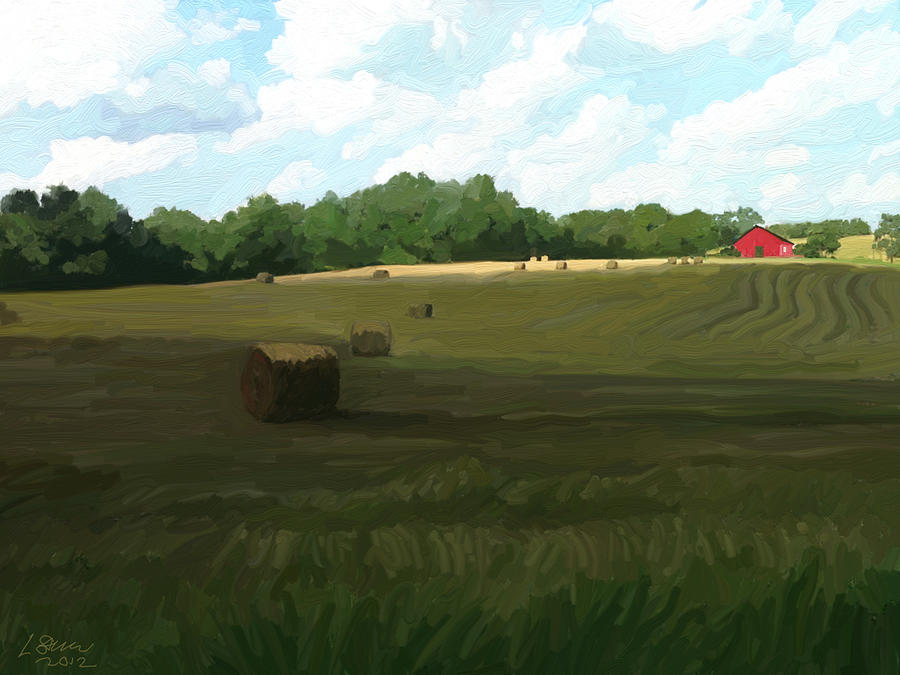 Paintings Farm Bales