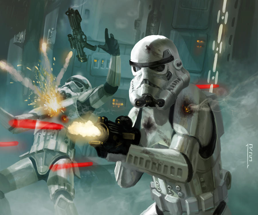 Stormtrooper Battle, Image Credit: Heavy Storm Trooper - Star Wars The Card Game by Ryan Barger
