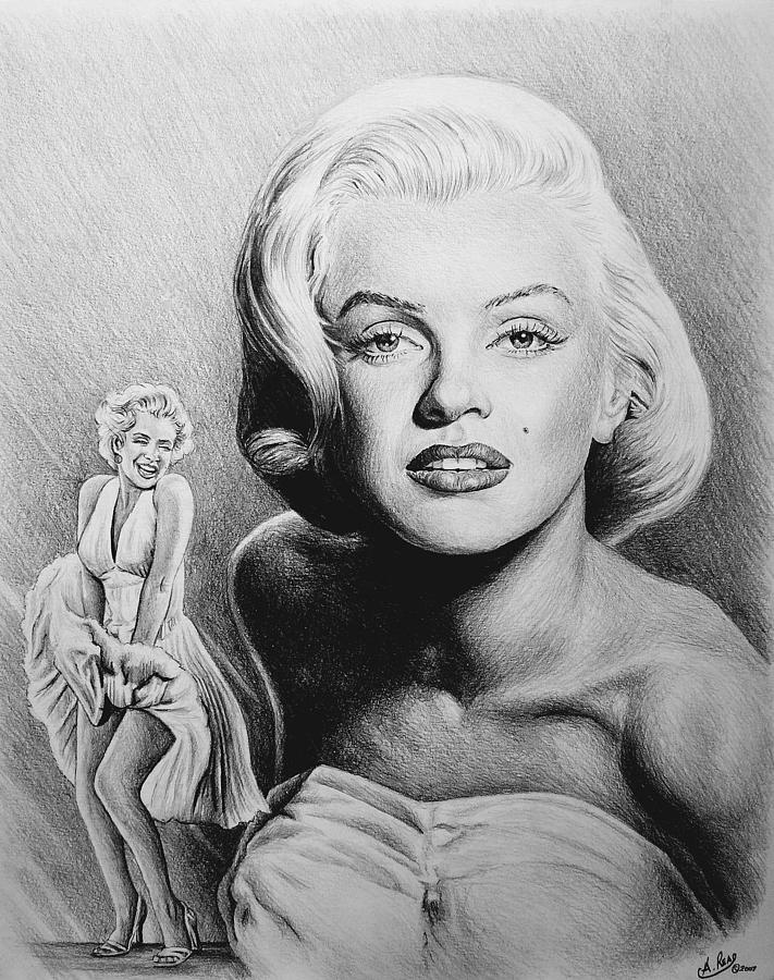 Hollywood Greats Drawing By Andrew Read