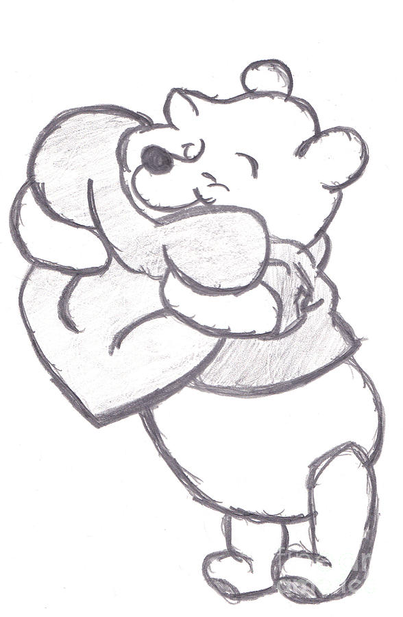 pooh bear drawing by melissa vijay bharwani huggable pooh bear